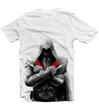 Футболка Assassins Creed Ezio II белая
