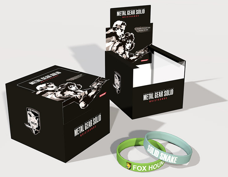 Браслет Metal Gear Solid Silicone Wristband Assortment